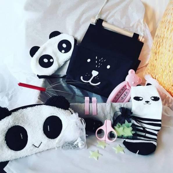 BOX Grossesse Fille - Panda 3 - A Personnaliser (réf 22)