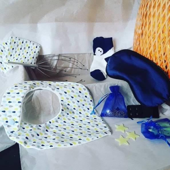 BOX Grossesse Mixte - Bleu Marine - A Personnaliser (réf 13)