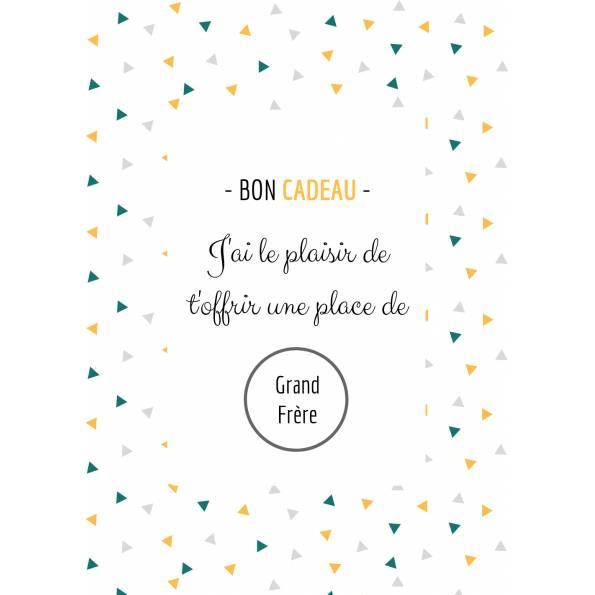 Carte Annonce Grossesse à Gratter - Grand Frère- Bon Cadeau