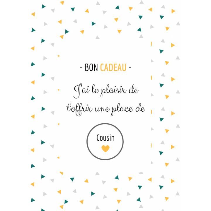 Carte Annonce Grossesse à Gratter - Cousin - Bon Cadeau