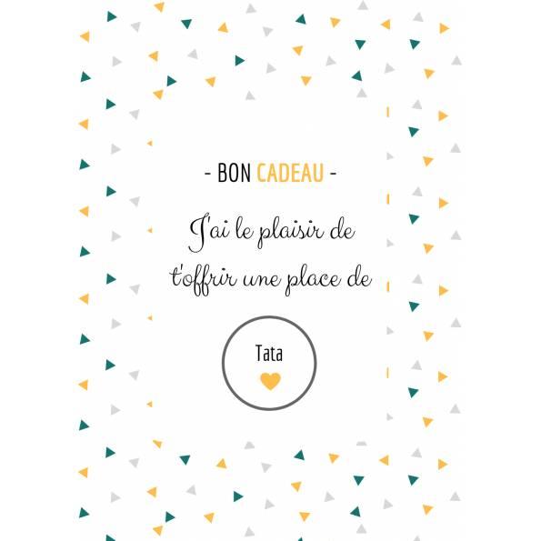 Carte Annonce Grossesse à Gratter - Tata- Bon Cadeau