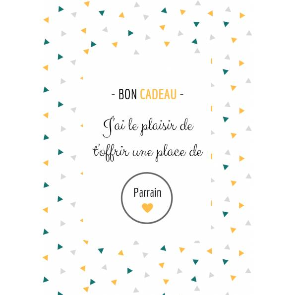Carte Annonce Grossesse à Gratter - Parrain- Bon Cadeau