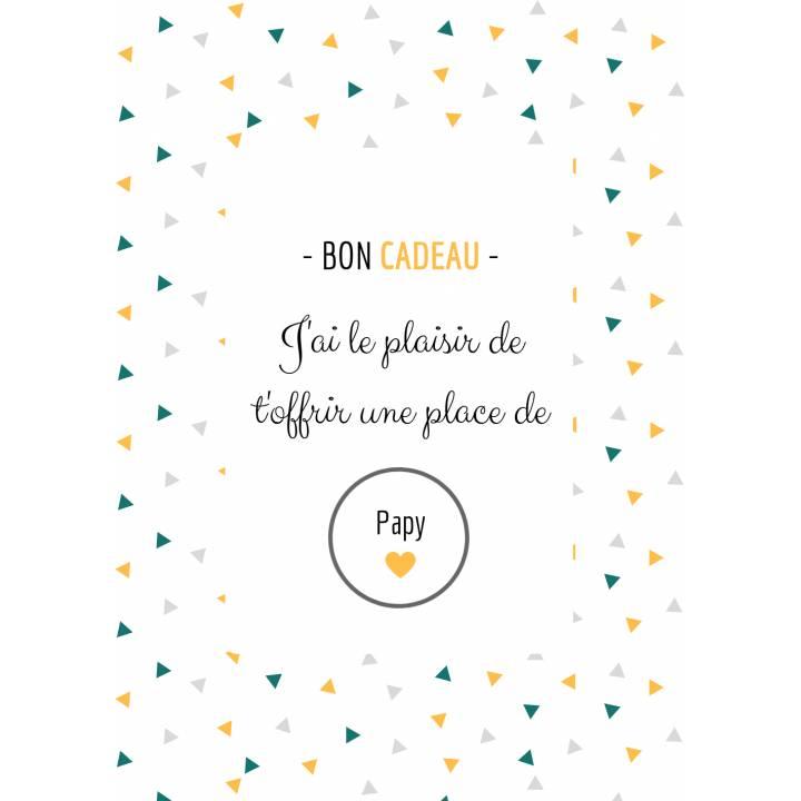 Carte Annonce Grossesse à Gratter - Papy - Bon Cadeau