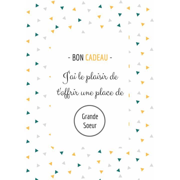 Carte Annonce Grossesse à Gratter - Grande Soeur - Bon Cadeau