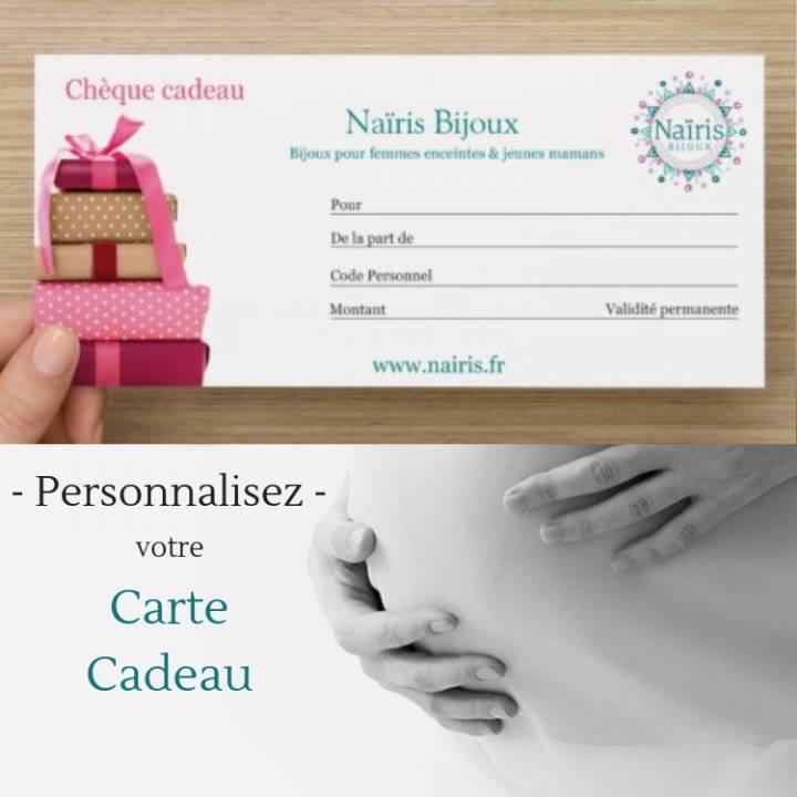 Carte cadeau - valable sur tout le site - validité permanente