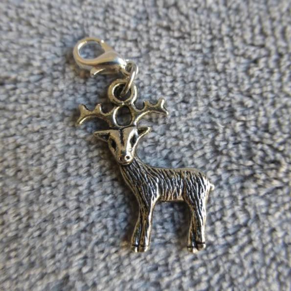 Mousqueton charms cerf - thème animaux
