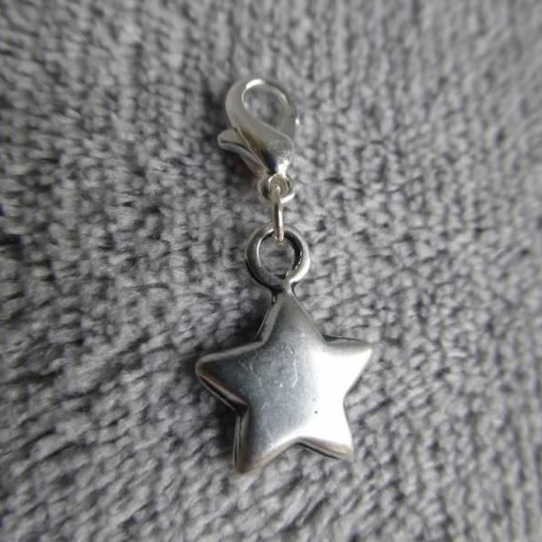 Mousqueton charms grande étoile - thème nature