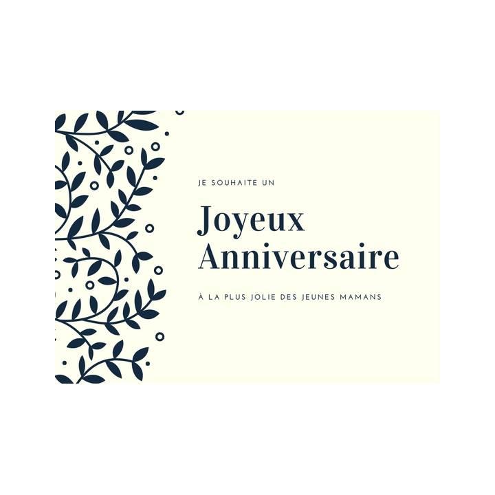 Carte Postale De Voeux Joyeux Anniversaire Pour Jeune Maman