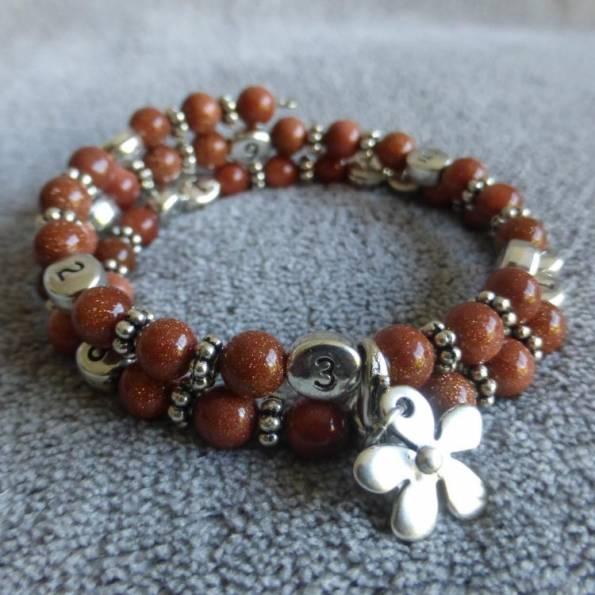 Bracelet d'allaitement pierre du soleil Indah
