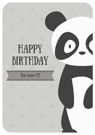 Happy Birthday (panda)